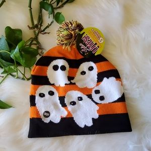 Halloween Light Up Ghost Beanie